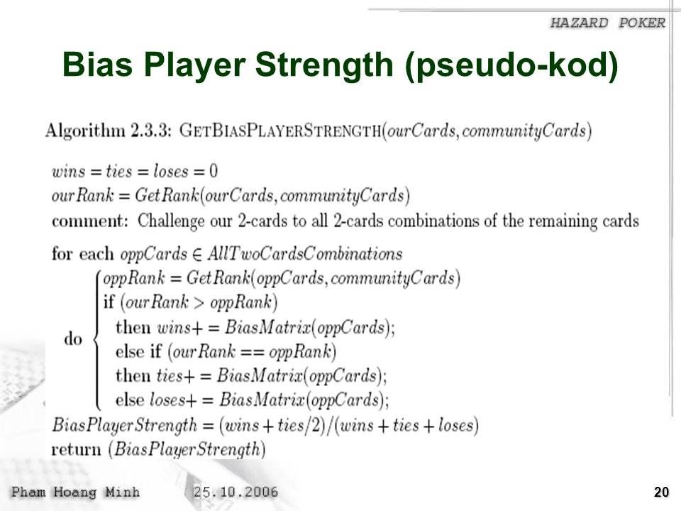 Bias Player Strength (pseudo-kod)
