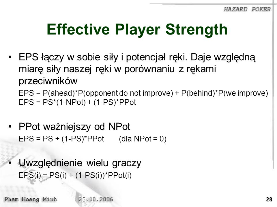 Effective Player Strength