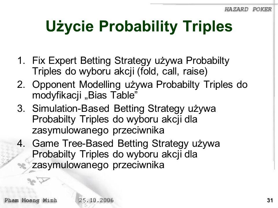 Użycie Probability Triples