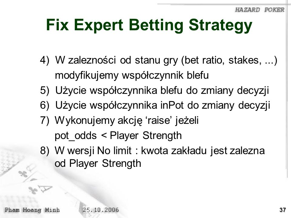 Fix Expert Betting Strategy