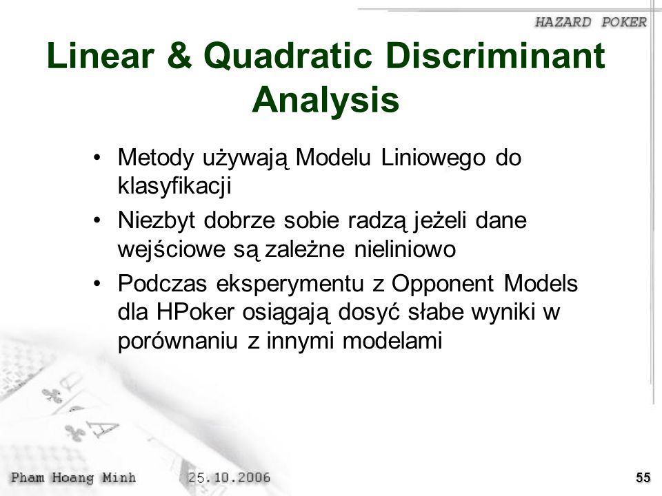 Linear & Quadratic Discriminant Analysis