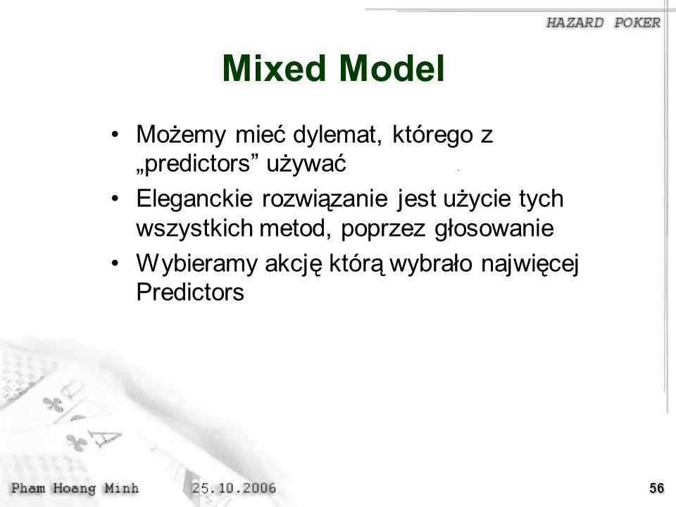 """Mixed Model Możemy mieć dylemat, którego z """"predictors używać"""