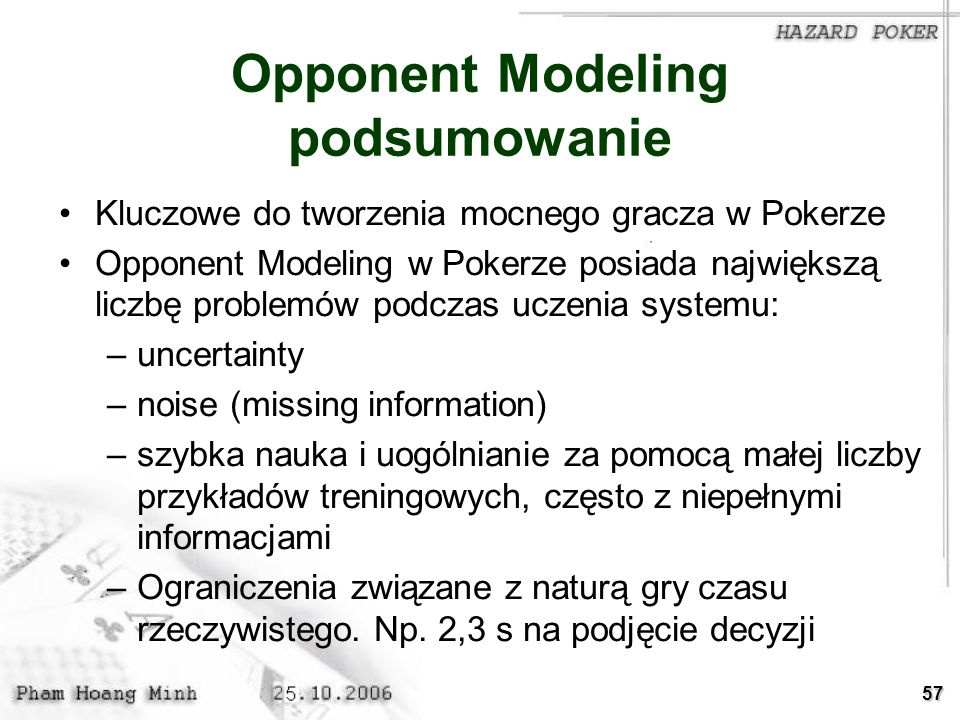 Opponent Modeling podsumowanie