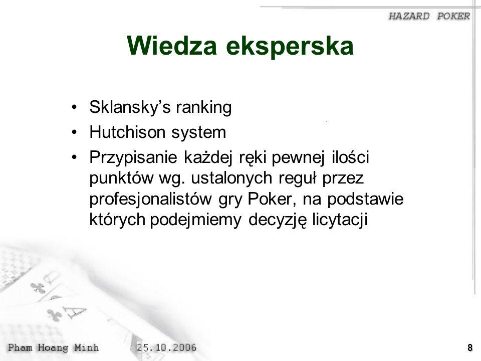 Wiedza eksperska Sklansky's ranking Hutchison system