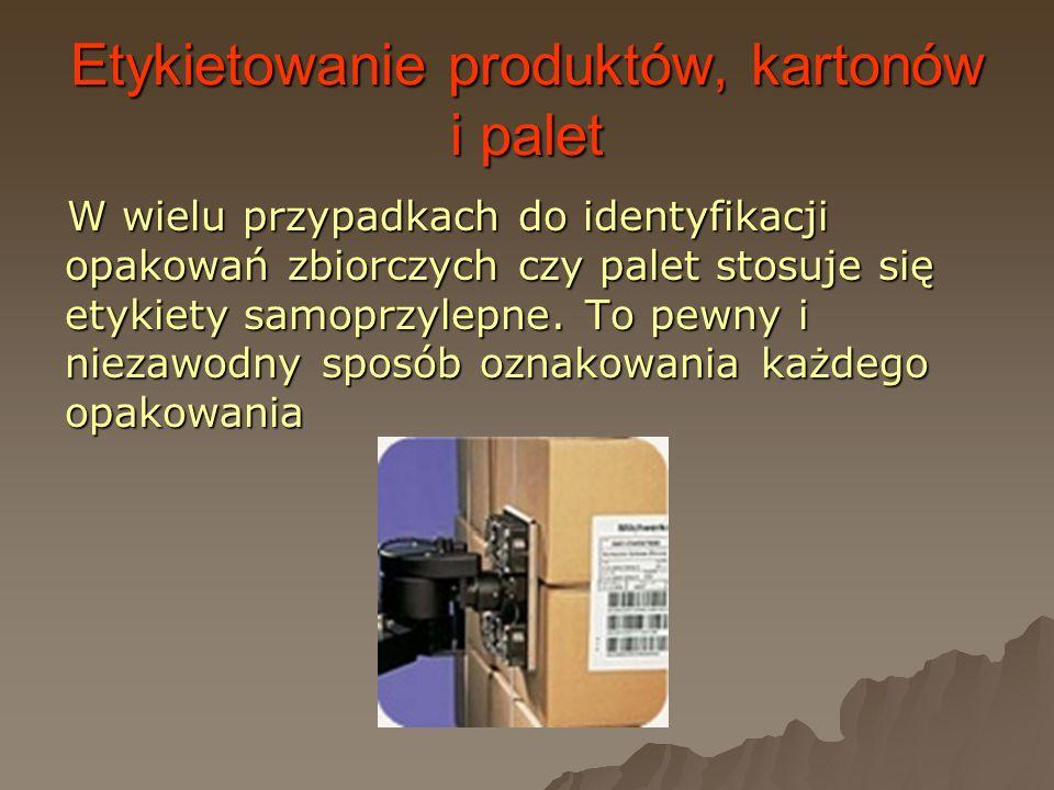 Etykietowanie produktów, kartonów i palet
