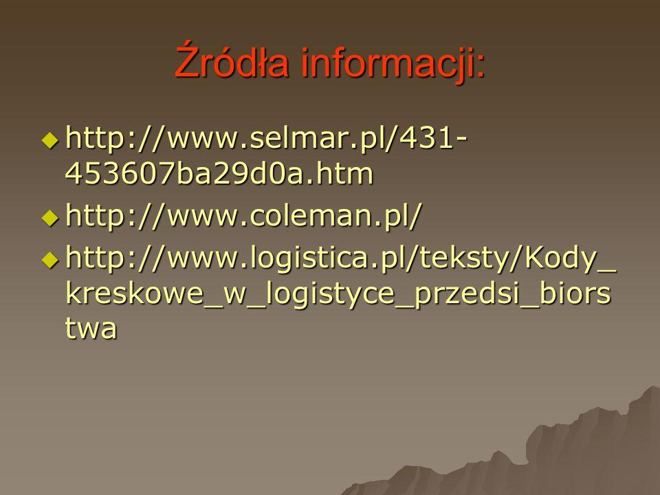 Źródła informacji: http://www.selmar.pl/431-453607ba29d0a.htm