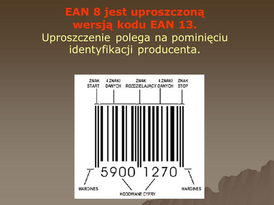 Uproszczenie polega na pominięciu identyfikacji producenta.