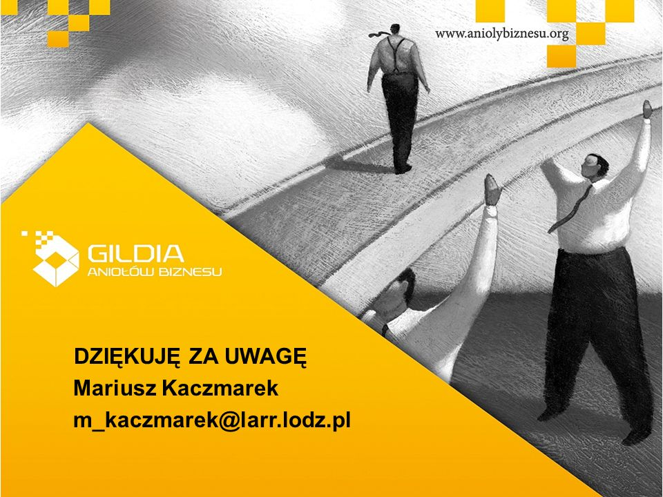 DZIĘKUJĘ ZA UWAGĘ Mariusz Kaczmarek m_kaczmarek@larr.lodz.pl