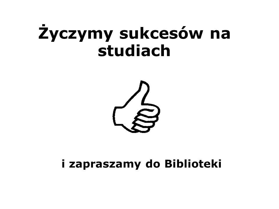 Życzymy sukcesów na studiach