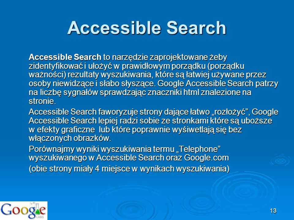 Accessible Search