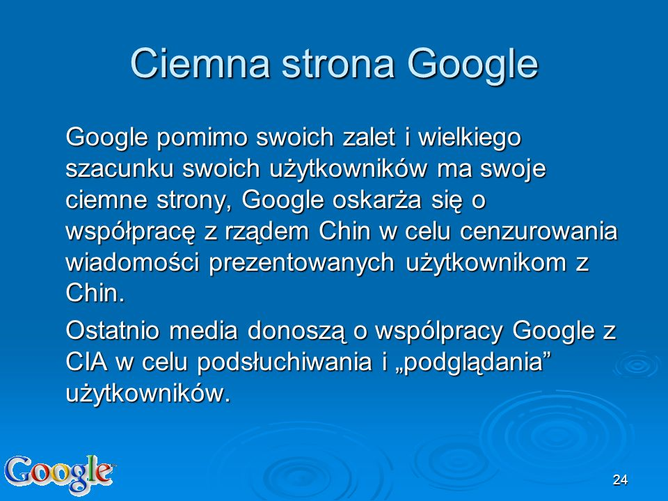 Ciemna strona Google