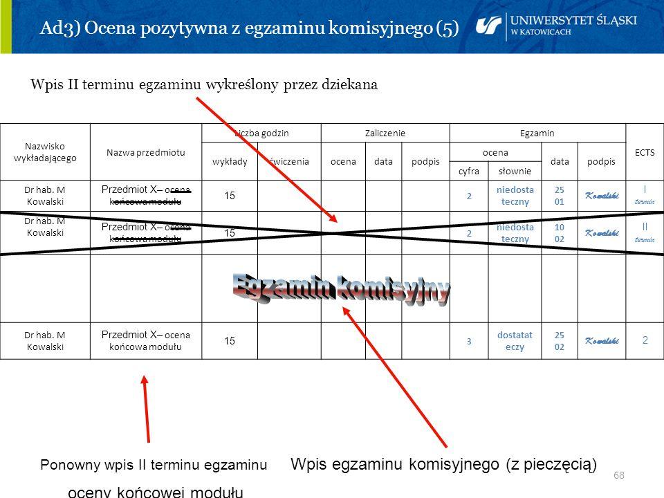 Ad3) Ocena pozytywna z egzaminu komisyjnego (5)