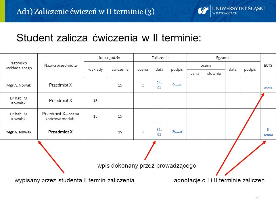 Ad1) Zaliczenie ćwiczeń w II terminie (3)