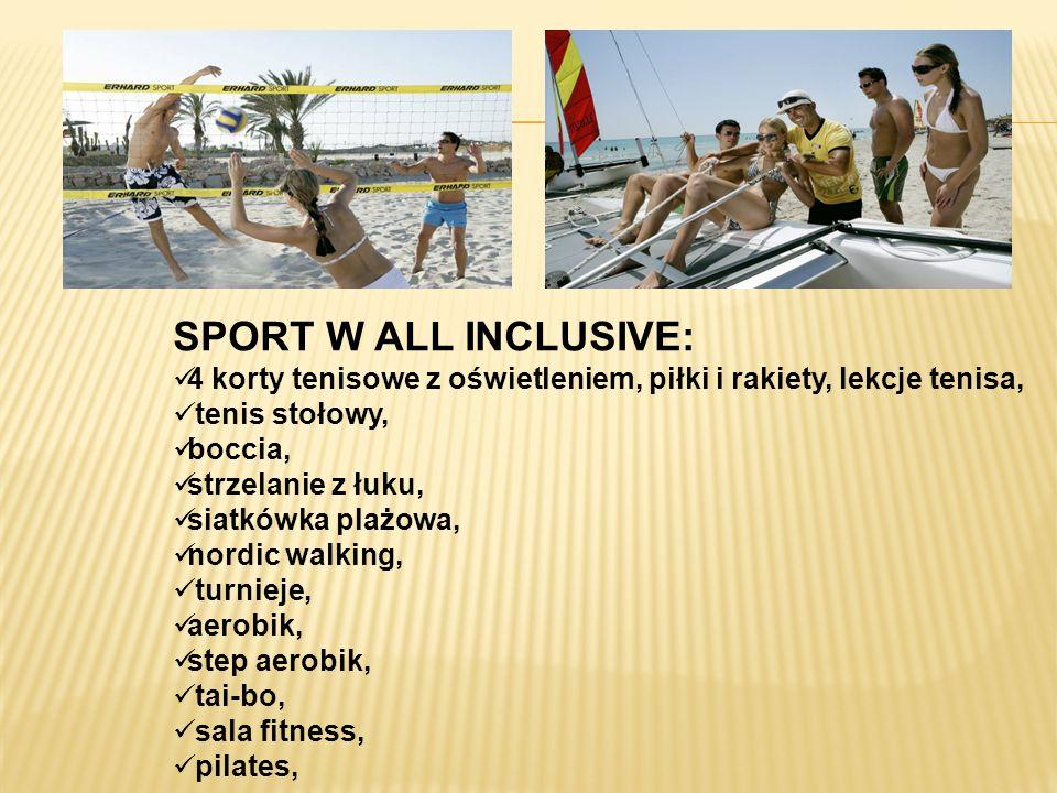 SPORT W ALL INCLUSIVE: 4 korty tenisowe z oświetleniem, piłki i rakiety, lekcje tenisa, tenis stołowy,