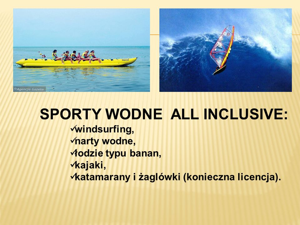 SPORTY WODNE ALL INCLUSIVE: