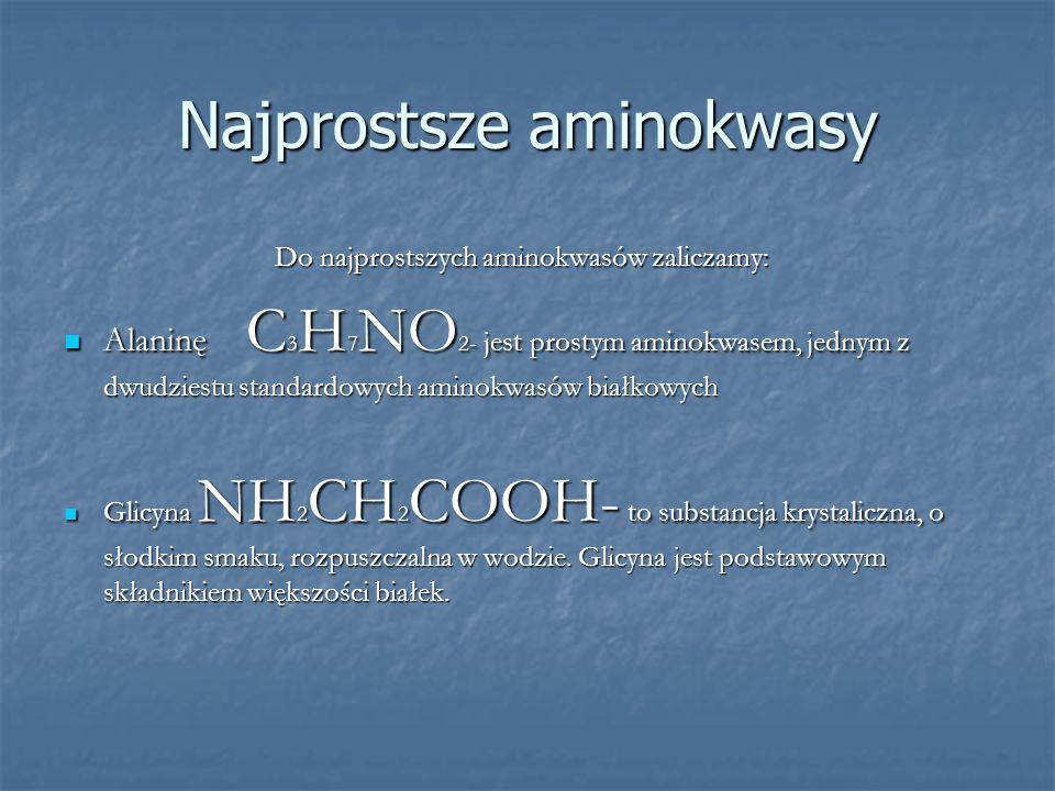 Najprostsze aminokwasy