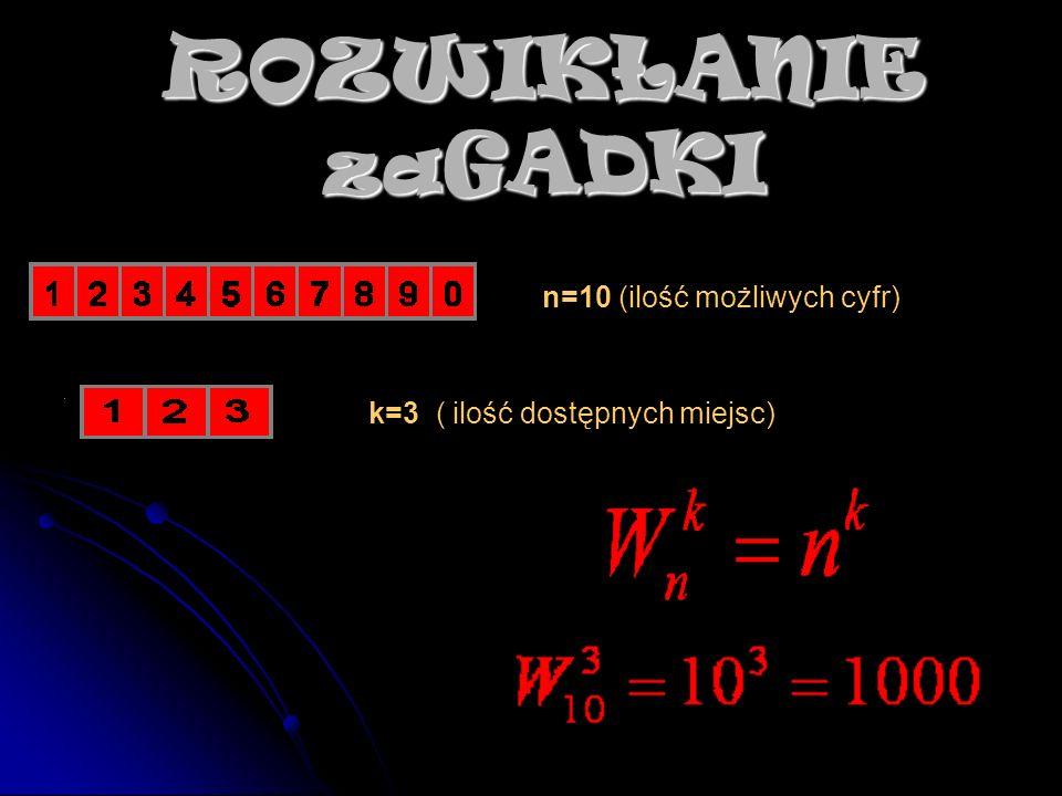 ROZWIKŁANIE zaGADKI n=10 (ilość możliwych cyfr)