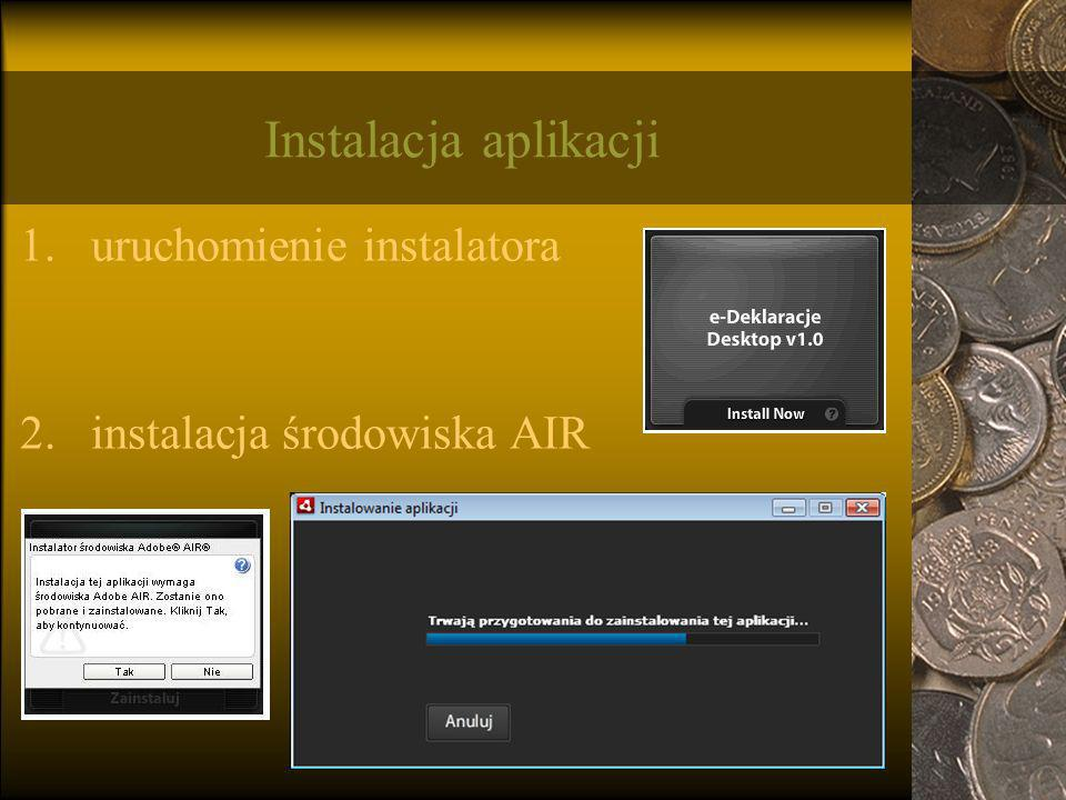Instalacja aplikacji uruchomienie instalatora
