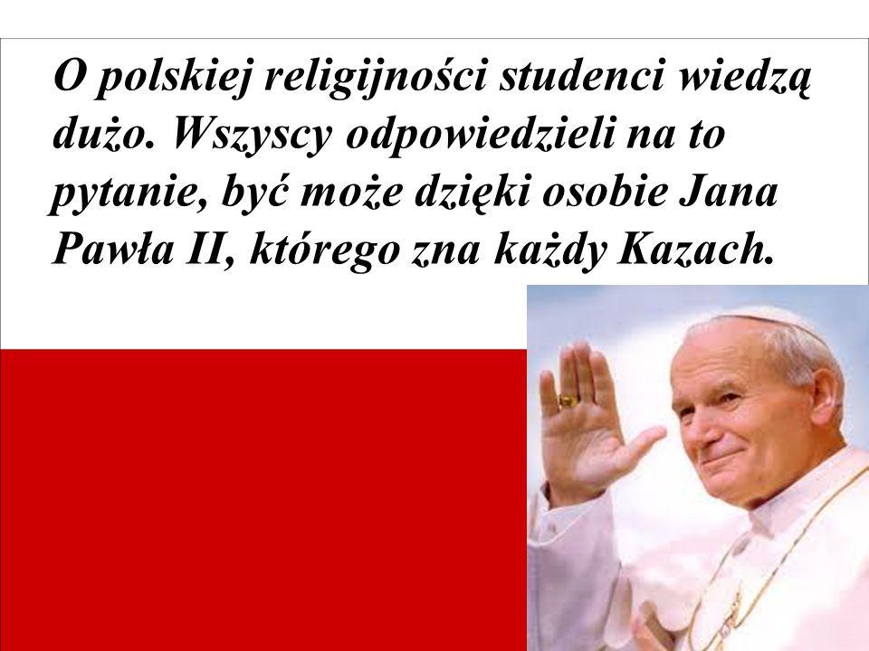 O polskiej religijności studenci wiedzą dużo