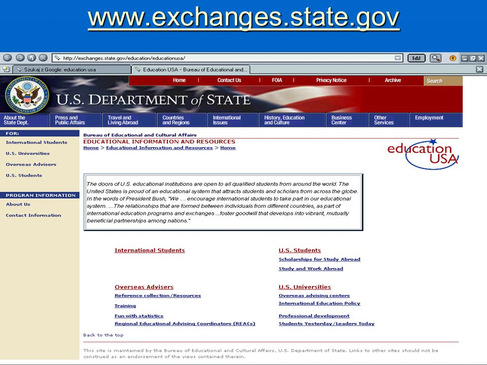 www.exchanges.state.gov