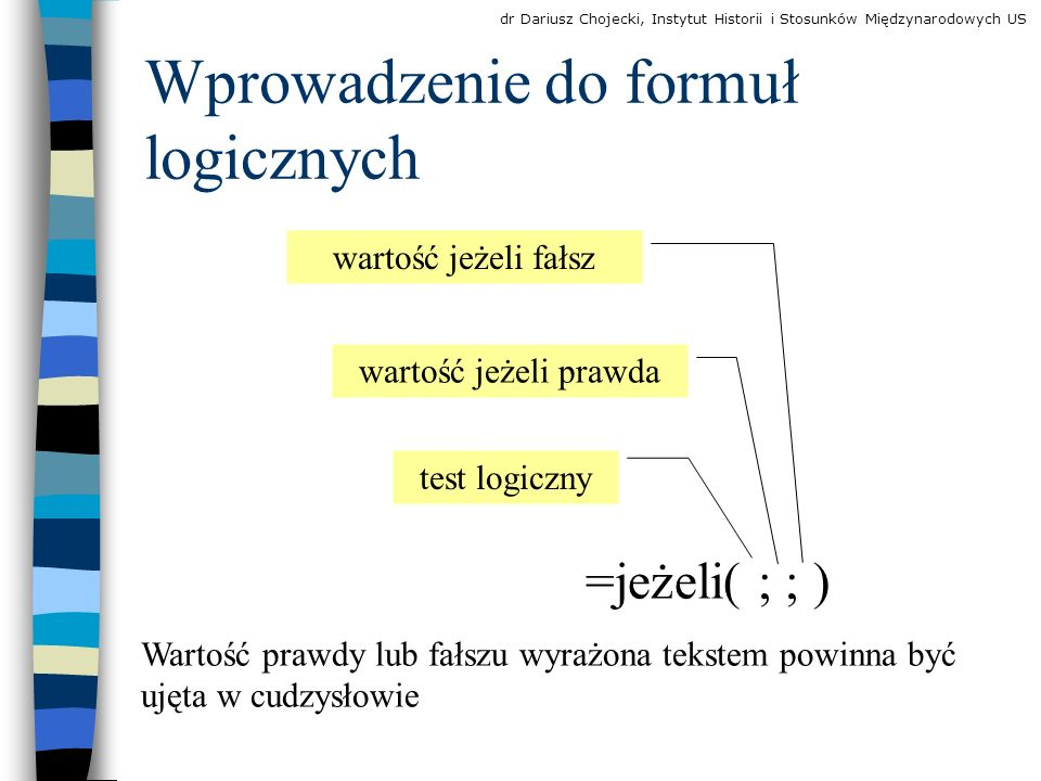 Wprowadzenie do formuł logicznych