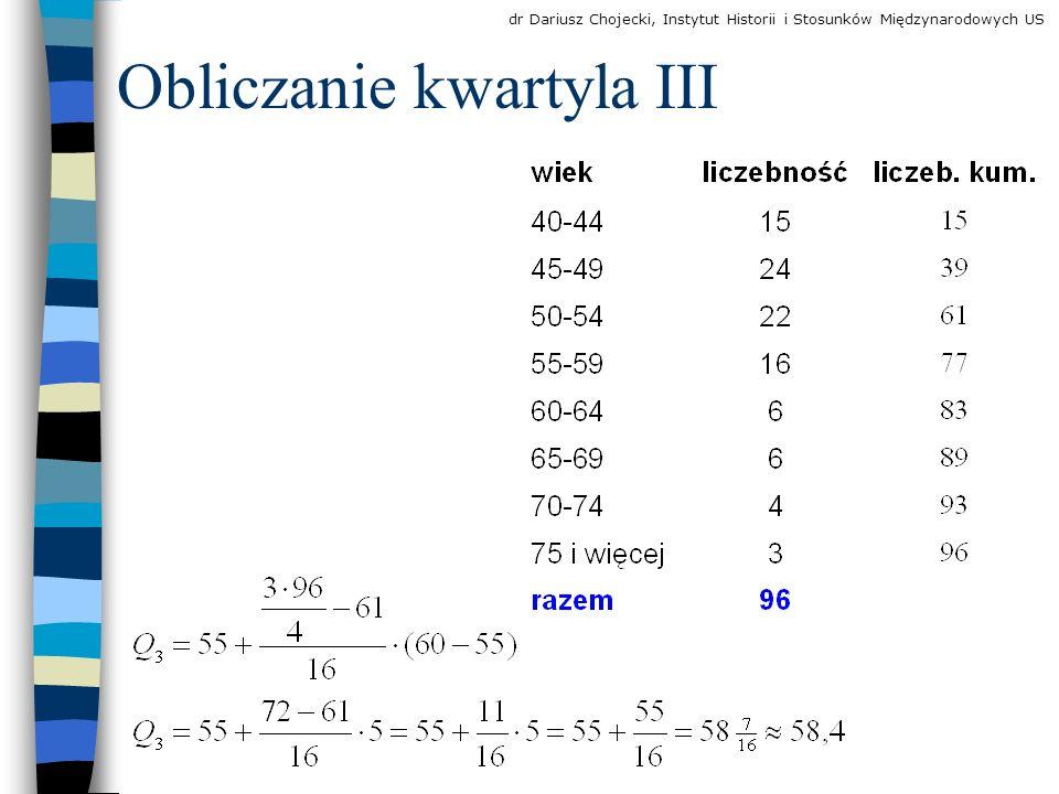 Obliczanie kwartyla III