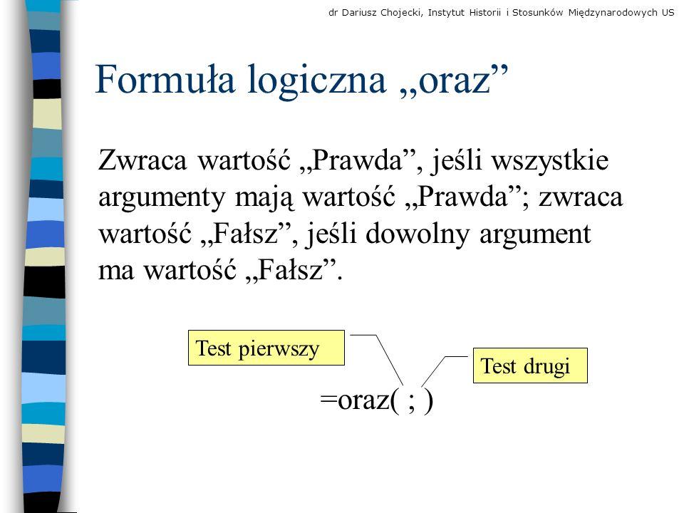 """Formuła logiczna """"oraz"""