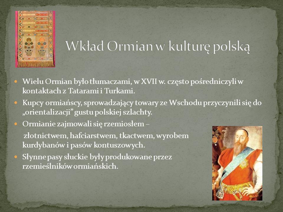 Wkład Ormian w kulturę polską