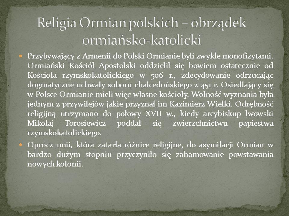 Religia Ormian polskich – obrządek ormiańsko-katolicki