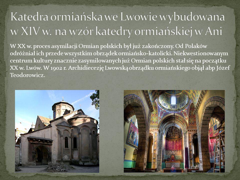 Katedra ormiańska we Lwowie wybudowana w XIV w