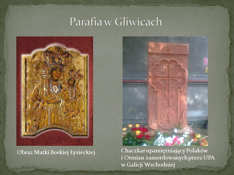 Parafia w Gliwicach Chaczkar upamiętniający Polaków