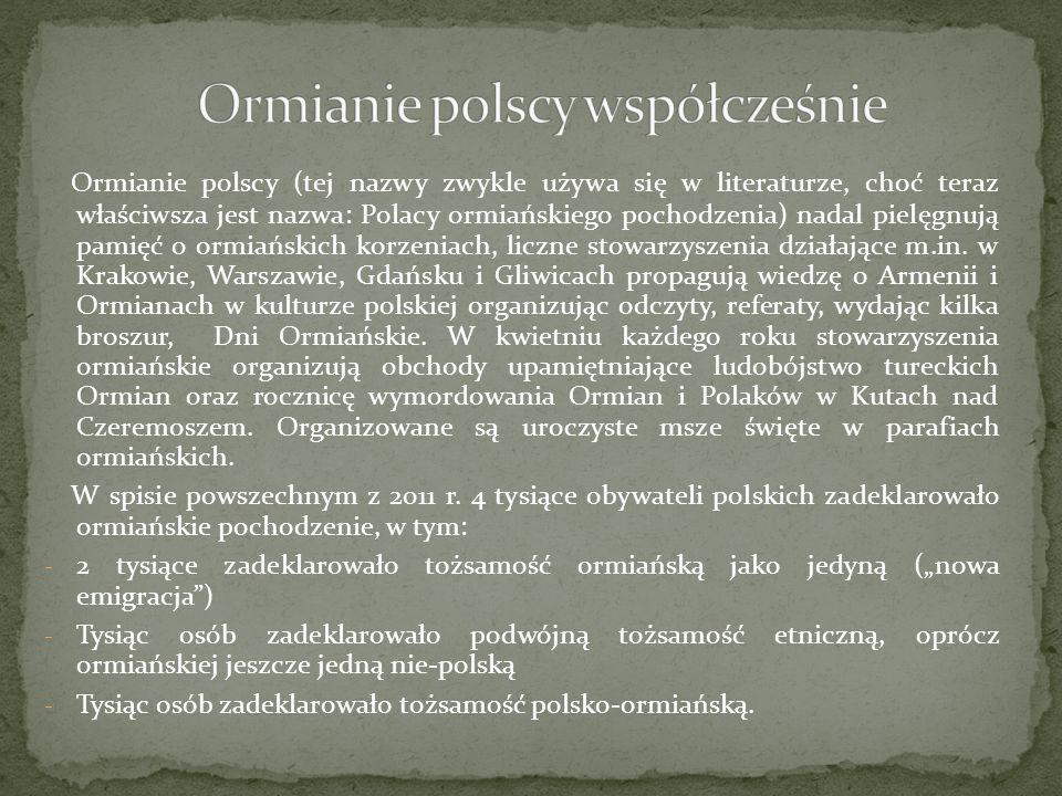 Ormianie polscy współcześnie
