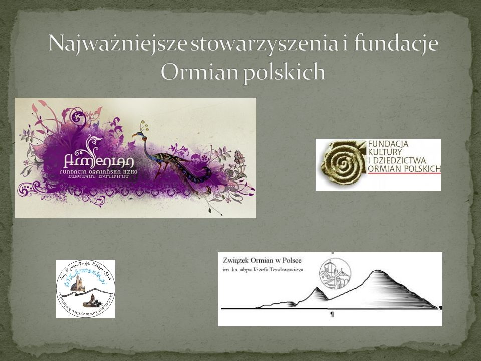 Najważniejsze stowarzyszenia i fundacje Ormian polskich