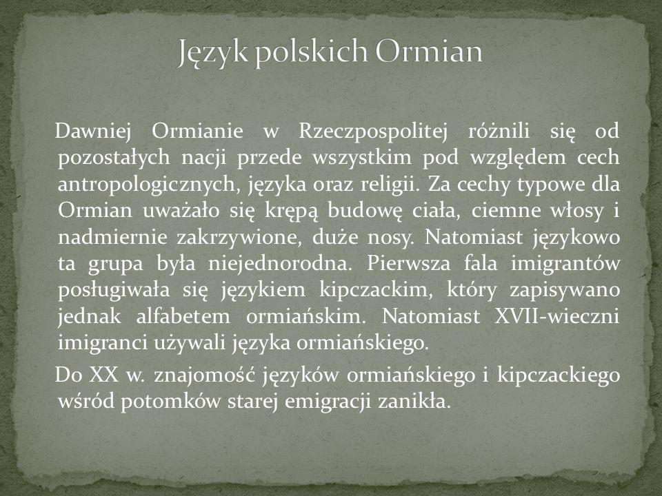 Język polskich Ormian