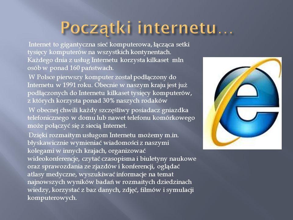 Początki internetu…