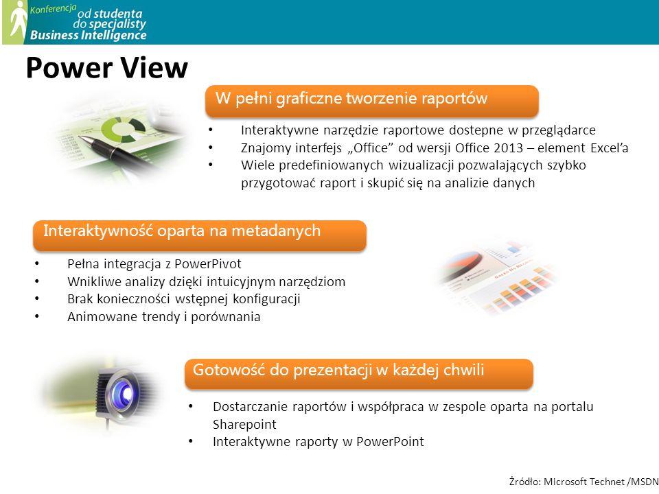Power View W pełni graficzne tworzenie raportów