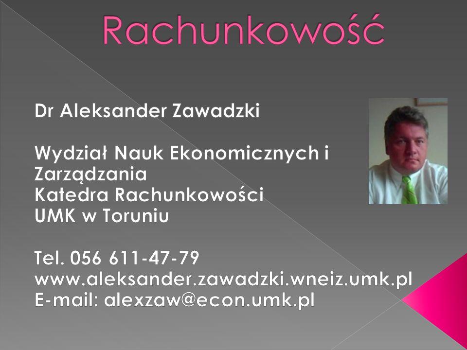 Rachunkowość Dr Aleksander Zawadzki