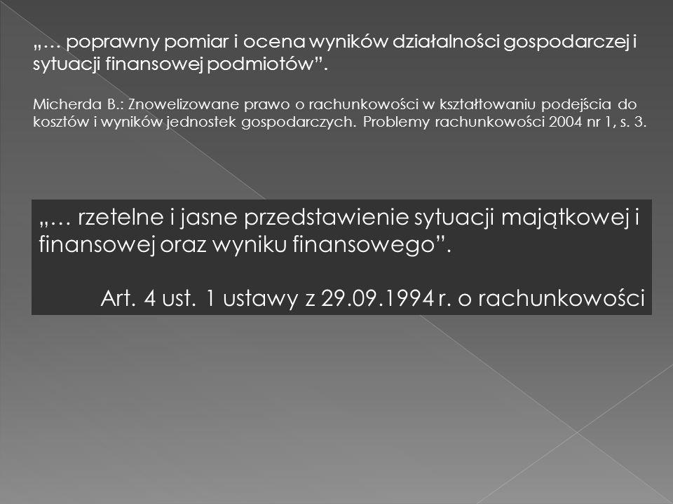 Art. 4 ust. 1 ustawy z 29.09.1994 r. o rachunkowości