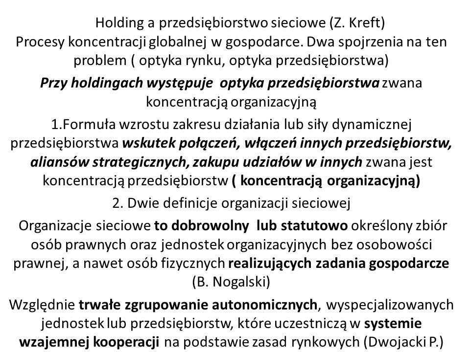 Holding a przedsiębiorstwo sieciowe (Z. Kreft)