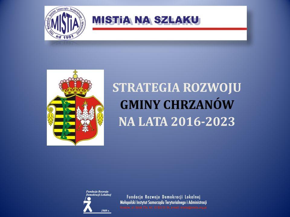 STRATEGIA ROZWOJU GMINY CHRZANÓW NA LATA 2016-2023