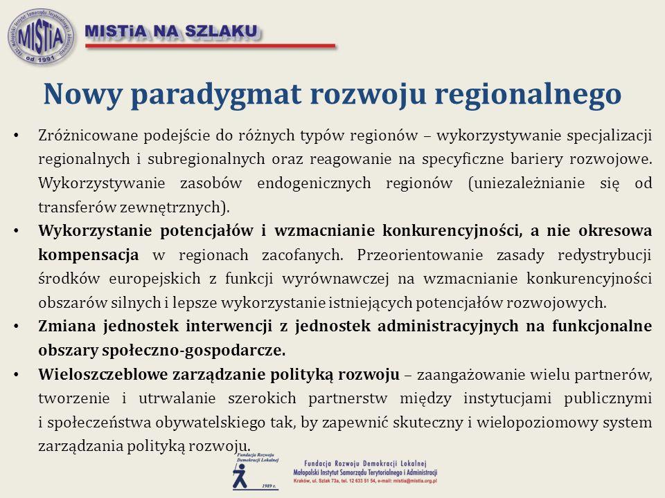Nowy paradygmat rozwoju regionalnego