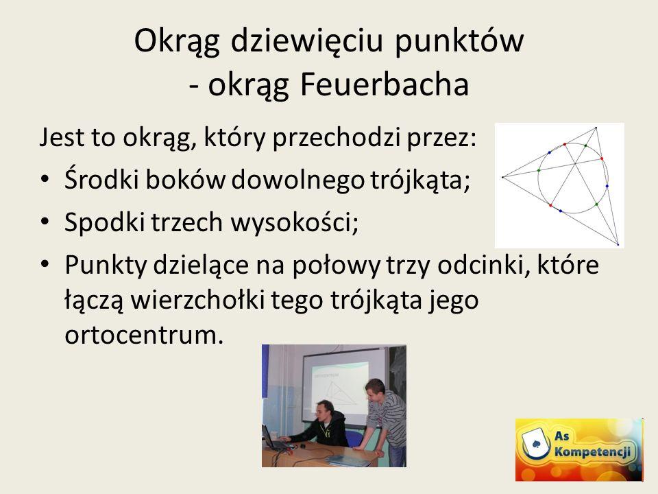 Okrąg dziewięciu punktów - okrąg Feuerbacha