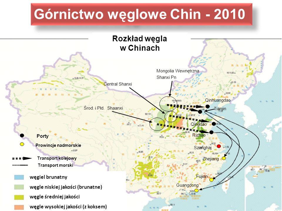Górnictwo węglowe Chin - 2010