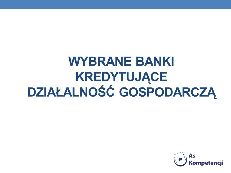 Wybrane banki kredytujące działalność gospodarczą