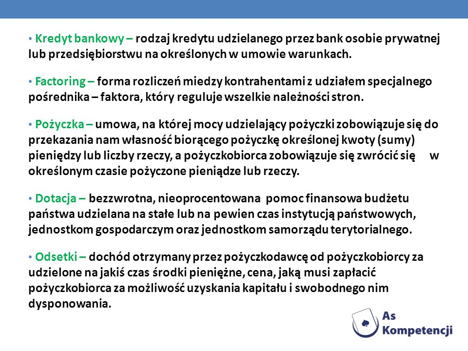 Kredyt bankowy – rodzaj kredytu udzielanego przez bank osobie prywatnej lub przedsiębiorstwu na określonych w umowie warunkach.