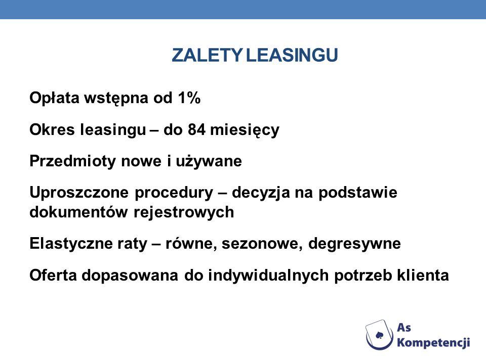 Zalety leasingu