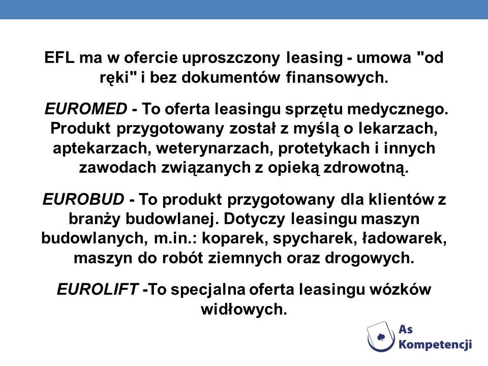 EFL ma w ofercie uproszczony leasing - umowa od ręki i bez dokumentów finansowych.