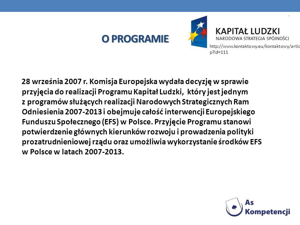 O PROGRAMIE http://www.kontaktowy.eu/kontaktowy/article.php id=111.