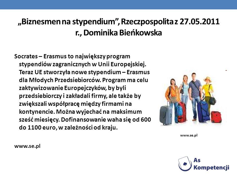 """""""Biznesmen na stypendium , Rzeczpospolita z 27. 05. 2011 r"""