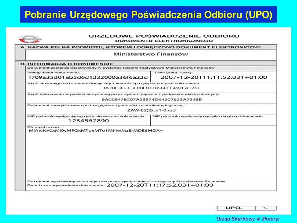 Pobranie Urzędowego Poświadczenia Odbioru (UPO)